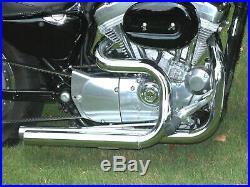 Chrome 2 1/4 Stepped Header Exhaust Drag Pipes Header 04-17 Harley Sportster XL