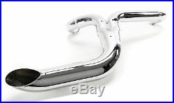 Chrome 2-into-1 Lake Pipe Exhaust System Harley Softail Chopper Bobber Custom