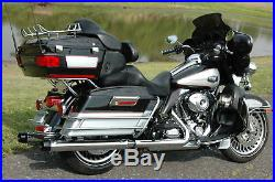 Chrome 3.5 Slip-On Ons Mufflers Exhaust Pipes 1995-2016 Harley Touring Bagger