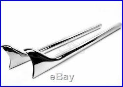 Chrome 30 Slip-On Fishtail Mufflers Exhaust Pipes Harley Chopper Bobber Custom