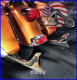 Chrome 36 Fishtail Drag Pipe Slip On Mufflers Exhaust 95-2016 Harley Touring