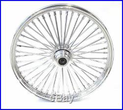 Chrome 48 King Fat Spoke 21 X 2.15 Front Wheel Rim Hub Harley Softail Wide Glide