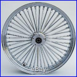 Chrome 48 King Spoke 21 x 2.15 Front Dual Disc Wheel for Harley/Custom Models
