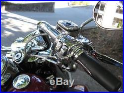 Chrome Handlebar Controls Hand Lever Control Kit Single Disc 1996-2006 Harley