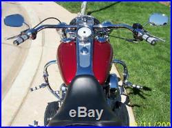Chrome Harddrive 1 1/4 1.25 Fat Beach Bars Handlebars Handle Bar Harley Custom