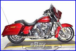 Chrome High Output Adjustable 2 into 1 Exhaust Pipe Header Harley Touring Bagger
