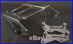 Chrome Tour Pak luggage rack + 4 pt docking kit Harley Davidson Touring 2014 UP