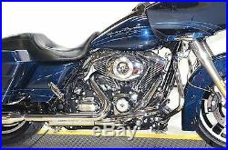 Chrome True Dual Crossover Exhaust Header Pipes Harley Dresser Touring 2009 FLHX