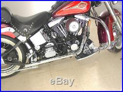 Chrome True Dual Exhaust Header Pipes Kit System EVO Softail FXST FLST 1995-1999