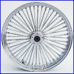 Chrome Ultima 48 Fat King Spoke 21 x 3.5 Front Dual Disc Wheel Harley 00-07