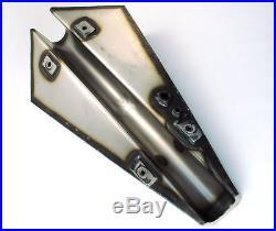 Coffin Gas Tank Raw Steel 3.4 Gallon Wyatt Gattling Harley Chopper Bobber Custom