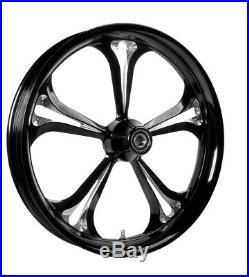 Colorado Custom Baja Black Cut Front 21 x 3.5 Wheel for Harley Touring