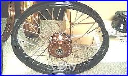 Copper & Black Springer Fork Bobber, Harley, Chopper, Cafe, Board Track, Triumph