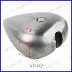 Custom 5 Stretched 4.5 Gallon Gas Fuel Tank For Harley Chopper Motorcycle Bikes