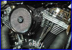 Custom Chrome Billet Panhead Style Rocker Box Covers 1999-2017 Harley Twin Cam