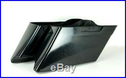 Custom Stretched CVO Style Extended Dual Saddlebags Bags Harley 14-18 FLHX FLTR