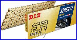 DID ERV 7 520 X 120 Link X Ring Gold Motorcycle Chain Off Road Racing Motocross