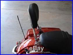 Detachable Backrest sissy bar Harley Davidson Touring 2009 and up 1s