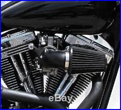 Dna Black Cone Air Cleaner Filter Kit CV Carb Harley Big Twin 93-13
