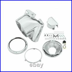 Drag Specialties 7 Chrome Headlight Cowl Nacelle Kit Harley Softail FL 86-2017