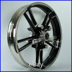 Enforcer Style ReInforcer Black Cut Front 21 Wheel Rim Harley 08-20 FLH