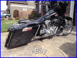 Fast Adjustable Lowering Air Ride Harley Davidson touring Suspension Shocks Kit