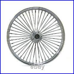 Fat Spoke 21 Front Wheel Chrome 21 X 3.5 Harley Flhr Road King Fltr Road Glide