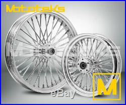 Fat Spoke Wheel 21x3.5 & 18x3.5 For Harley Softail Fatboy Slim Deluxe Heritage