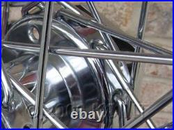 For Harley Dyna Softail Std 40 Spoke 21 Front 16 Rear Chrome Wheels Parts
