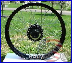 Front 21 X 2.15 40 Spoke Black Rim Hub Wheel Dual Disc Harley Sportster Dyna 00