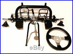 Front Frame Basic Steering Wheel Stub Axle Go Kart Buggy Chassis Kit Project