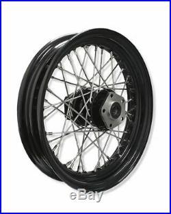 Front / Rear 16 x 3 40 Spoke Black Rim Hub Wheel Harley Big Twin Shovelhead
