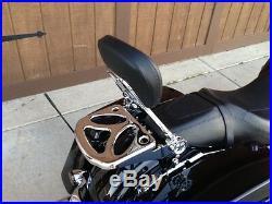 Ghost Luggage rack Detachable Backrest Sissy bar Harley Davidson Touring 2009 UP