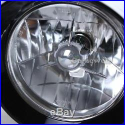 Gloss Black Custom Headlight for Harley Choppers