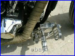 Harley Davidson Softail 1984 1999 Polished Silver Forward Controls Foot Pegs