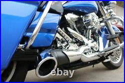 Harley Exhaust Header 2 Into 1 FLT Chrome 3 Turn Out Lake Oval V-Twin 29-0072