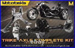 Harley Trike Axle Conversion Kit + Swingarm Harley Sportster Models 1986-2003