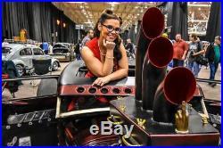 Harley, chopper, bobber heat shield fxxxcking hot 12, brass, handmade cast