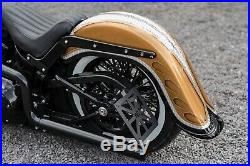 Harley-davidson 4 Stretch Softail Rear Fender With Tip 00-17