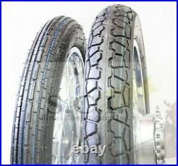 Honda Cb350 Cb350f Cb360 Cb400f Kz400 Xs400 Liberty Front & Rear Tire & Tubes
