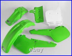 Kawasaki KX 60 1984 2004 Motocross MX UFO Full Plastic Kit Green White OEM