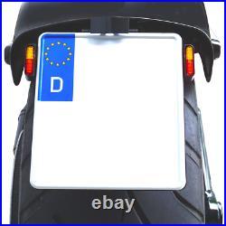 Kennzeichenhalter Platte mit LED Blinker 3in1 KZ Beleuchtung für Harley Davidson