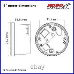 Koso BA050901, Digital Gauge Cluster, Silver Bezel for Harley Touring 2004-2013