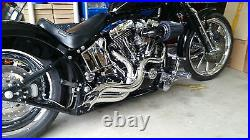LAF, POINTED AMBUSH Step Tuned 2-1/2 Racing EXHAUST Pipes SOFTAIL, CUSTOMS