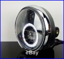 LED-SCHEINWERFER f. Motorrad Headlight/PHARE/Faro + Standlichtring, UNIVERSAL