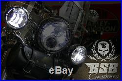 LED Zusatzscheinwerfer, Harley Davidson, 4 Zoll, Road King, Electra Glide CHROME
