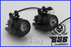 LED Zusatzscheinwerfer für R 1200GS 1150 GS F 800 650 schwarz oder indiv. Einbau