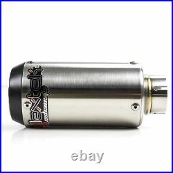LEXTEK CP1 Stainless Steel Stubby GP Style 51mm Slip On End Can Exhaust Silencer
