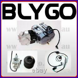 LIFAN 125cc Manual Clutch Engine Motor + Wiring Kit + Carby PIT PRO DIRT BIKE