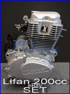 Lifan 200cc 5 Speed Engine Motor CDI Motorcycle Dirt Bike Go Kart M En25-set